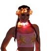 LED Halsband orange/pink