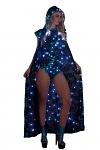 LED Mantel mit Kapuze lang - Opal