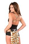 Leopard Kostüm Geschirr, Halsband & Leine - Premium Qualität