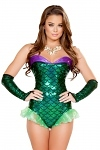Meerjungfrau Kostüm Green Fish - made by Roma USA
