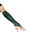 Mermaid Armstulpen dunkelgrün
