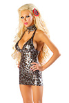 Metallic Leopard Minikleid - Josie Loves JValentine