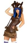 Minikleid Kapuze - Mammuth Kostüm - Lizenzkostüm by JValentine USA