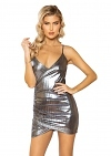 Minikleid Metallic Girl Silver