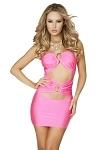 Minikleid Mona pink trägerlos