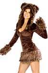 Minikleid - Teddybär Kostüm -  JValentine USA