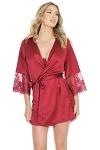 Morgenmantel Kimono rot