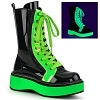 Neon Green Stiefel Emily-350