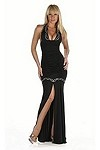 Sexy Abendkleid Phelines - schwarz