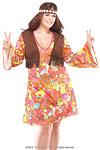 Hippie Girl Kost�m Gr.XL
