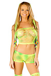 GoGo Netz Shorts Set Lime Sherby