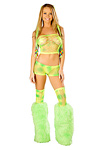 GoGo Netz Shorts Komplettset Lime Sherby