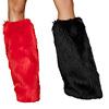 Beinstulpen rot schwarz