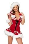 Weihnachts Minirock Strip Set - Xmas Girl