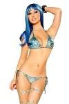 GoGo Bikini Blue Leopard