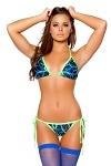 GoGo Bikini Blue Swirl