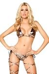 GoGo Bikini Metallic Leopard