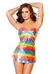 Sexy Minikleid Rainbow