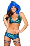 GoGo Shorts Set Blue Swirl