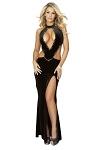 Abendkleid sexy Dekollet� schwarz