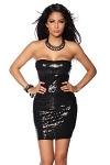 Pailletten Minikleid schwarz