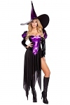 Halloween Kost�m Hexe Purple