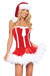 Santa�s Minikleid - Sexy Weihnachtskost�m Gr.S/M
