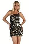Pailletten Minikleid Lady Miami