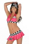Sexy Boxenluder Racer Top & Skirt Gr.M