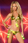 Bikini Lightning Star electric green