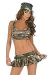 Sexy Army Tank Top & Skirt Gr.XS