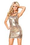 Sexy Minikleid Gold Leopard