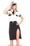 Pilot Kost�m - Pilotin Kost�m Kleid Gr.S/M