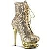 Pailletten Stiefelette BLONDIE-R-1020 gold