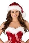 Pailletten Weihnachtsmütze