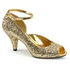 Peeptoe Pumps Belle-381 gold