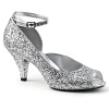 Peeptoe Pumps Belle-381 silber