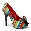 Peeptoe Pumps Lolita-12 Stripes