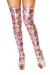 Pink Flower Beinstulpen