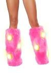 Pinke Beinstulpen leuchtende LED´s