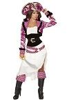 Piraten Kostüm Pink Deluxe