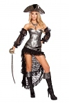 Piraten Kostüm Silver Deluxe