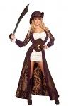 Piratenkost�m Kleid Dekadent Deluxe