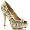 Plateau Glitter Pumps Lumina-27SQ gold