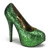 Plateau Glitter Pumps Teeze-06G grün