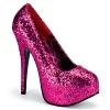 Plateau Glitter Pumps Teeze-06GW pink