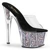 Plateau High Heels Adore-701CG silver