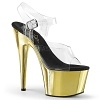 Plateau High Heels Adore-708 gold chrome