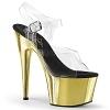 Plateau High Heels Adore-708 gold chrome