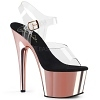 Plateau High Heels Adore-708 rose gold
